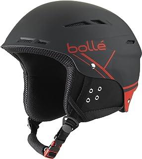 Bollé 31212 B-Fun - Casco de Esquí, Unisex Adulto, Negro/Rojo (Soft Black & Red), 58-61 cm