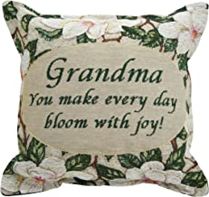 Jubilee Celebrations Grandma Pillow 12 x 12 - Magnolia Bloom - Grandmother Gift Made in USA