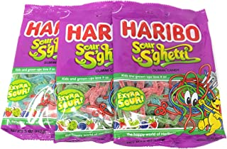 Haribo Gummies-Sour Spaghetti-5 Oz-3 Count