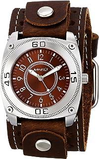 ネメシスMen 's 012bsth-b Mix and Matchシリーズアナログディスプレイ日本クォーツブラウン腕時計