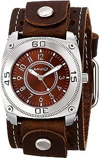 Nemesis Men's 012BSTH-B Mix and Match Series Analog Display Japanese Quartz Brown Watch