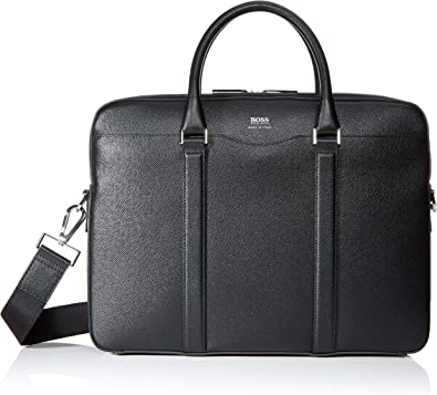 BOSS - Signature_s Doc, Bolsas para portátil Hombre, Negro (Schwarz), 6.5x28x38.5 cm (B x H T)