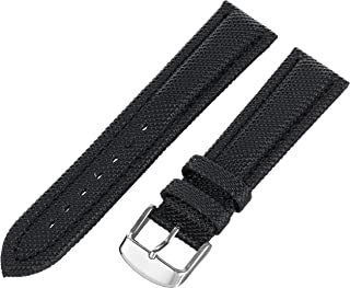 Hadley-Roma Men's 20mm Nylon Watch Strap, Color:Black (Model: MSM841RA-200)