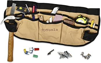 Updated Super Heavy Duty Canvas Tool Apron Multi-function with Reinforced Non-Collapsing Hammer Holder. Best Quality Construction. Designed by a Carpenter!