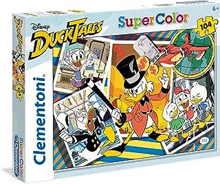 Clementoni 27083 Clementoni-27083-Supercolor Puzzle-Duck Tales-104 Pieces-Disney, Multi-Colour