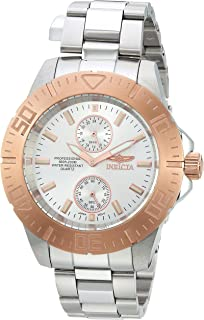 Men's Pro Diver Quartz Diving Watch with Stainless-Steel Strap, Silver, 20 (Model: 14057)