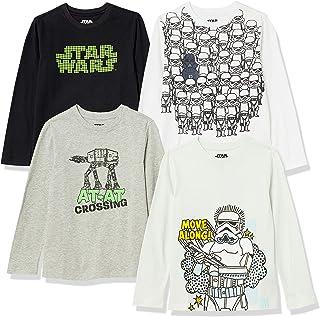 Amazon Brand - Spotted Zebra Boys' Disney Star Wars Marvel Long-Sleeve T-Shirts