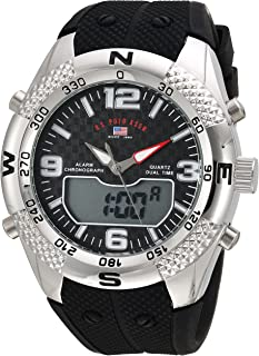 U.S. Polo Assn. Men's Quartz Watch, Analog-Digital Display and Rubber Strap US9662