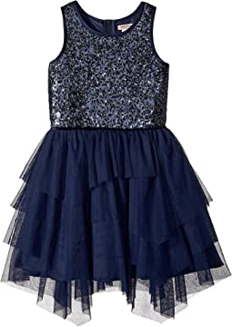 Nanette Lepore Kids - Novelty Sequins with Tulle Dress (Little Kids/Big Kids)