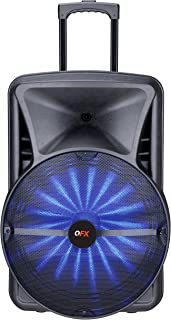 QFX PBX-118 Smart App Controlled Portable Party Speaker with Light Effects