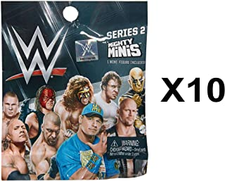 WWE Mighty Minis Series 2 Wrestling Mini Figure Blind Bag Party Favours - Pack of 10