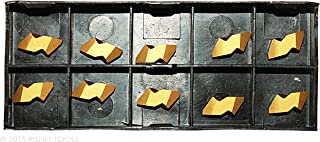 Pack of 10 RISHET TOOLS 13512 NT-2L C5 Multi Layer TiN Coated Notch Style Threading Carbide Inserts