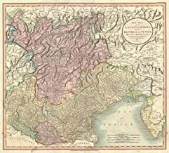 Historic Map - Cary Map of Mantua, Venice and Tyrol, Italy, 1799 - Historical Antique Vintage Decor Poster Wall Art - 16in x 24in