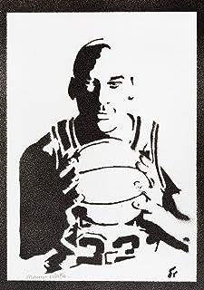 Poster Michael Jordan Handmade Graffiti Street Art - Artwork