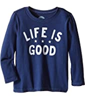 Life is Good Kids - Three Star Life is Good® Long Sleeve Tee (Toddler)