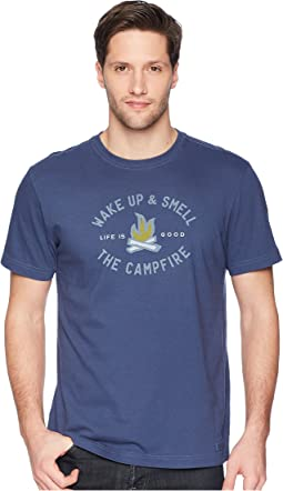 Life is Good - Smell the Campfire Crusher Tee