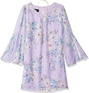 Amy Byer Girls' Big Bell Sleeve A-line Chiffon Dress