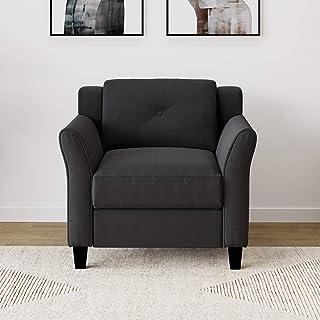 "Lifestyle Solutions Harrington armchairs, 33.90"" W x 31.50"" D x 33.90"" H, Black"