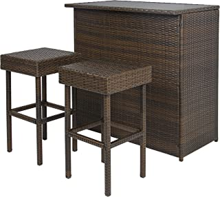 Excellent Bar Height Patio Furniture Sets Amazon Com Download Free Architecture Designs Scobabritishbridgeorg