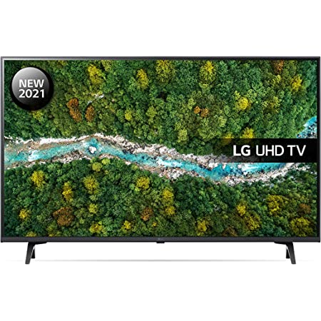 LG 43UP77006LB 43 inch 4K UHD HDR Smart LED TV (2021 Model) with Freeview Play, Prime Video, Netflix, Disney+, Google Assistant and Alexa compatible