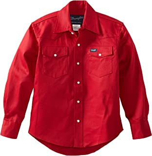 Wrangler Boys' Western Solid Snap Shirt