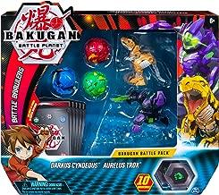 Bakugan Battle Pack 5-Pack, Darkus Cyndeous & Aurelus Trox, Collectible Cards & Action Figures, Ages 6 & Up