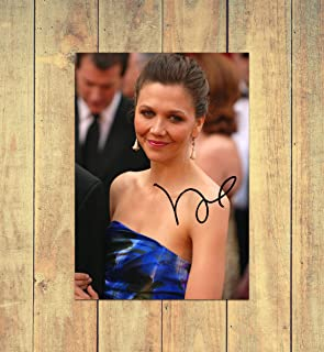Maggie Gyllenhaal 1 - High Gloss Printed Poster - A4 (210 x 297 mm) Personalised
