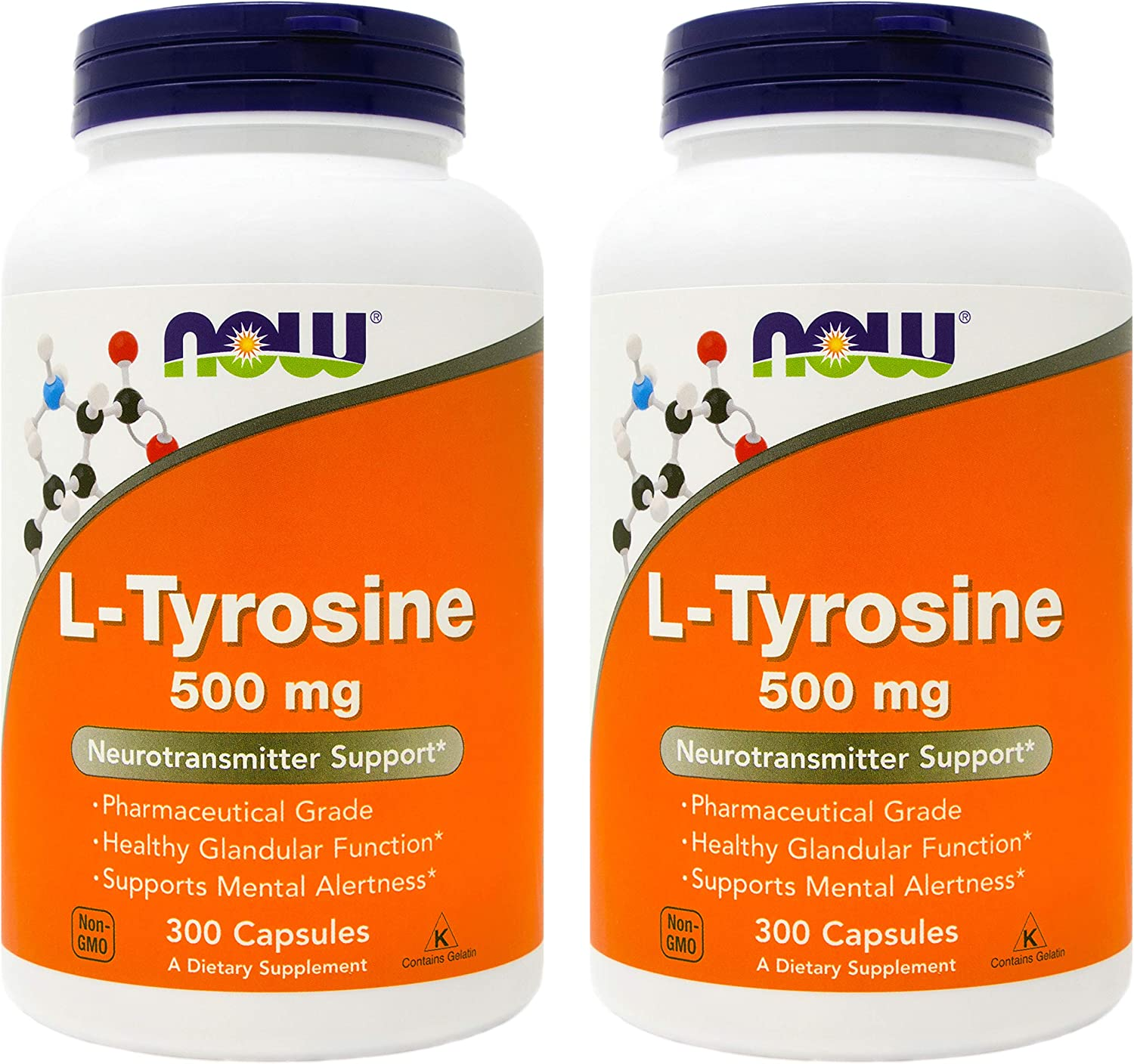 Now L-Tyrosine 500mg 300 Capsules Pack Today's only Super popular specialty store 2 of