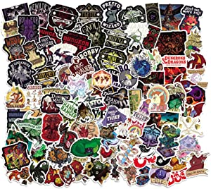 Dungeons_and_Dragons Stickers 102PCS Classic Game Graffiti for Boys and Girls Vinyl Decors for Laptop Luggage Bumper Cars Cup Skateboard Gifts for Kids