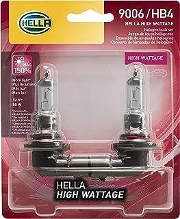 HELLA 80WTB Wattage-80W High Wattage 9006 Bulbs, 12V, 2 Pack
