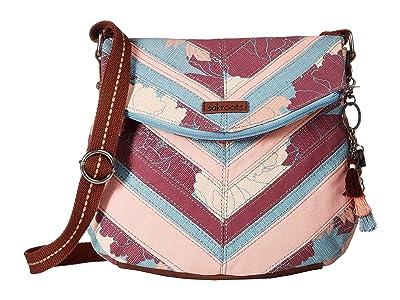 Sakroots Artist Circle Foldover Crossbody (Petal Peony) Cross Body Handbags