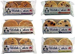 Welsh Baker Welsh Cakes - 6 Flavor Variety Box - 24 Cakes