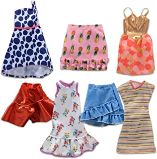 Barbie Doll Fashion Clothing Dress and Skirt Bundle ~ 7 Pc Barbie Dresses and Skirts for Barbie Dolls | Barbie Accessories...