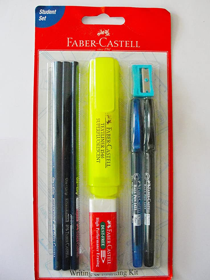 Faber Castell Writing & Marking Kit (The Essential 9 Pieces Stationery Set) -Buy Original only at E-Retail Deals