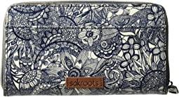 Artist Circle Large Zip Around Wallet