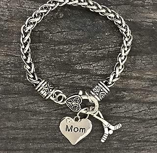 Hockey Mom Charm Bracelet, Ice Hockey Mom Jewelry, for Moms with Hockey Players