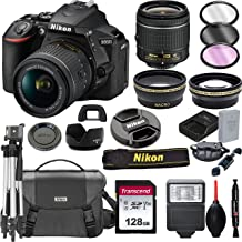 $569 » Nikon D5600 DSLR Camera with 18-55mm VR Lens + 128GB Card, Tripod, Flash, and More (20pc Bundle)