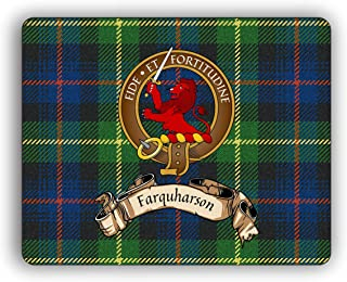 Scottish Clan Farquharson Tartan Crest Computer Mouse Pad