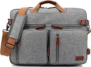 CoolBELL umwandelbar Rucksack Messenger Bag Umhängetasche Laptop Tasche Handtasche Business Aktentasche Multifunktions Reise Rucksack Passend für 17,3 Zoll Laptop/Männer/FrauenGrau