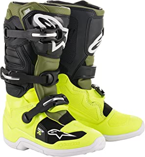 Tech 7S Youth Off-Road Motocross Boot (5 US, Yellow Fluo Military Green Black)