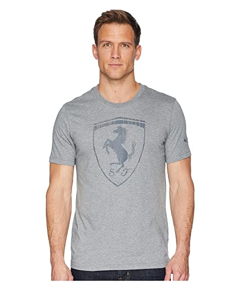 Big Tee Shield gris Ferrari jaspeado Medium PUMA wOqUC