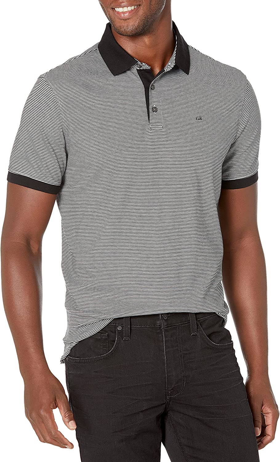 Popular brand Calvin Klein Men's Liquid Touch with Polo Protection Stripe Free Shipping Cheap Bargain Gift UV