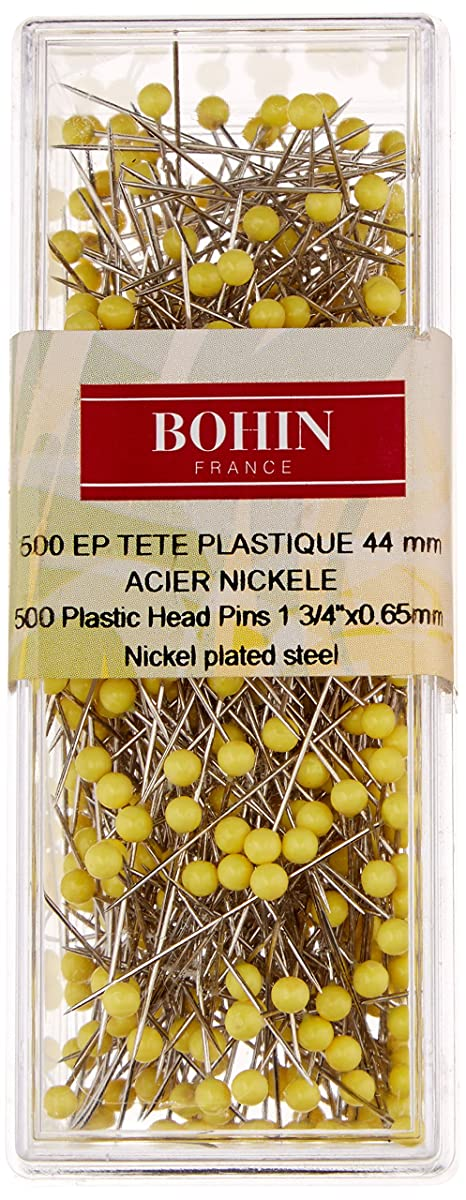Bohin Yellow Head Quilting Pin Size 28-1 3/4in 500ct