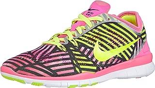 FREE 5.0 TR FIT 5 PRT (Pink Pow/Volt-Black) Women's Running Shoes 6.5 Us