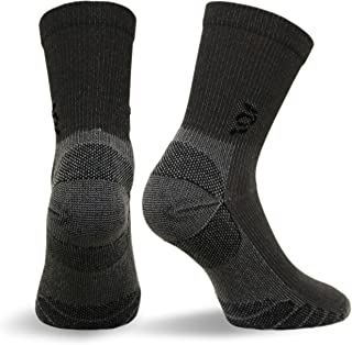Travelsox The Best Dress and Travel Crew Compression Socks TSC, Grey, X-Large