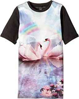 Hepsie Rainbow and Swan Jersey Dress (Toddler/Little Kids/Big Kids)