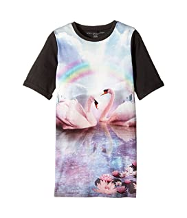 Hepsie Rainbow and Swan Jersey Dress (Toddler/Little Kids/Big Kids)