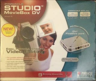 Pinnacle1394/FireWire Video Capture & Editing Studio Moviebox Deluxe Version 9 USB 2.0 Interface