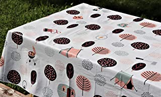 """Crabtree Collection Vinyl Tablecloth: Indoor/Outdoor Dining Flannel Backed Table Cover