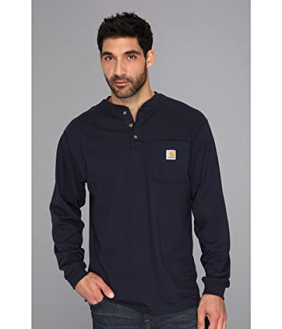 Carhartt Workwear Pocket L/S Henley (Navy) Men
